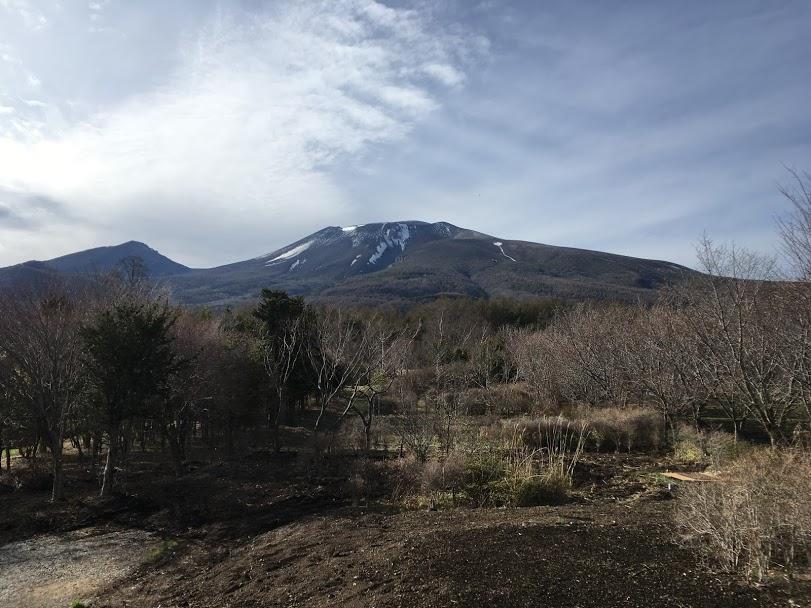 冬の終わりの浅間山